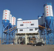 Stationary concrete plant HZS120 m3 / h.